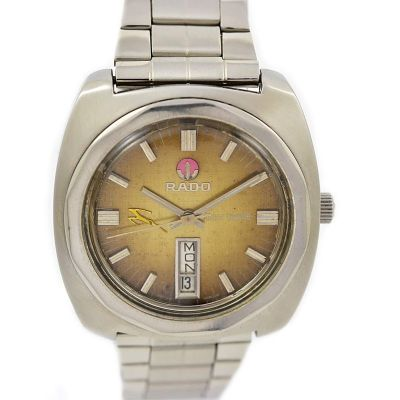 Pre-owned Rado Amber Gazelle Day/Date Automatic Men's Watch 12126 1980