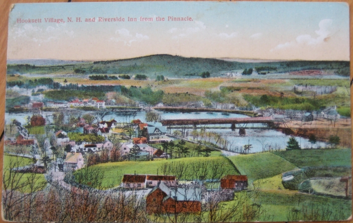 1910 PC: Birdseye View- Hooksett Village, New Hampshire