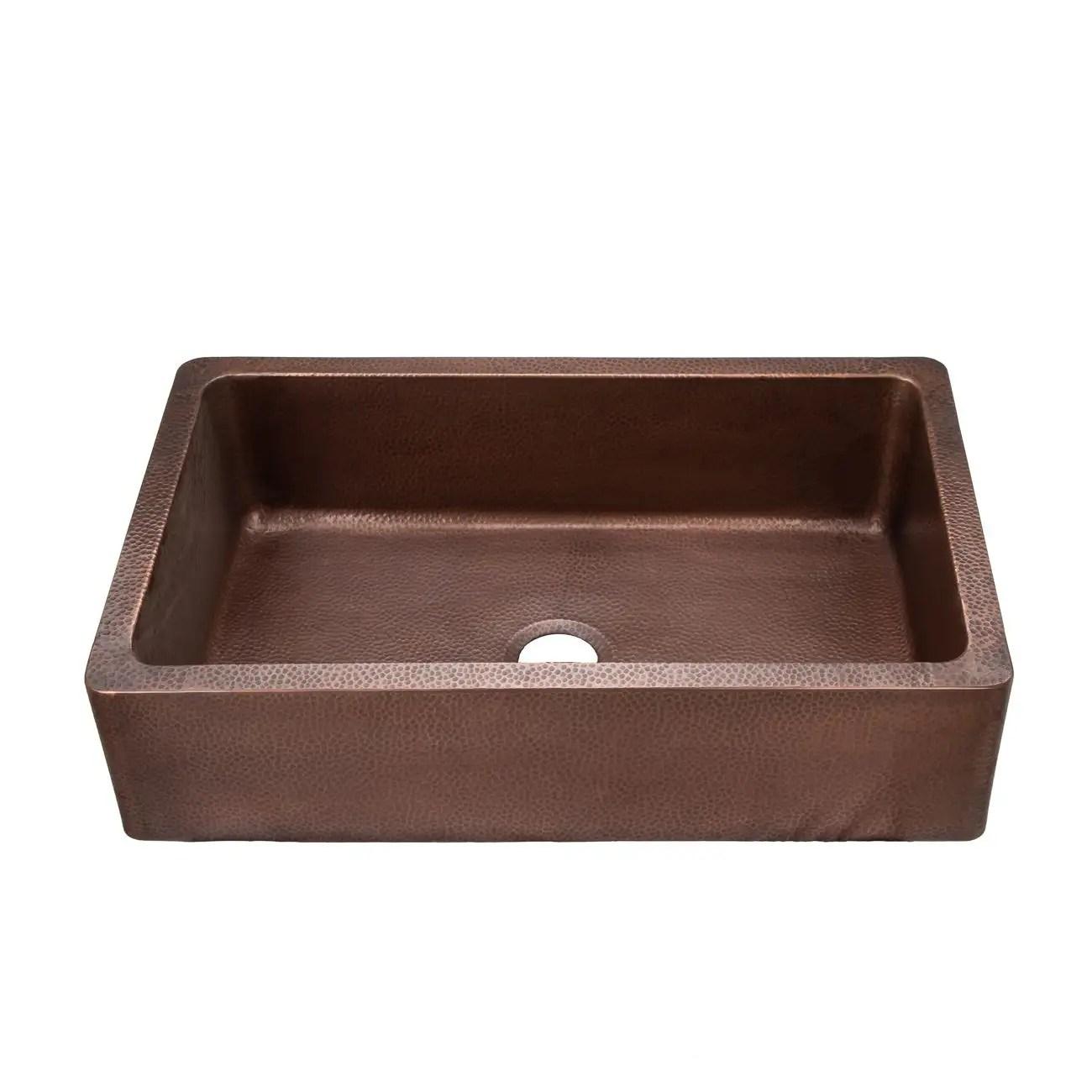 36 inch copper single bowl apron farmhouse sink