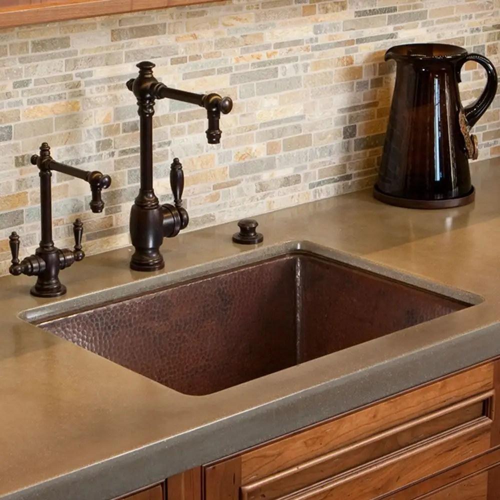 cocina 24 inch undermount copper kitchen sink
