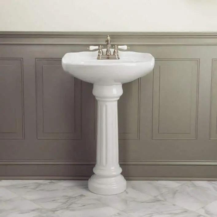 oxford 23 inch pedestal sink white