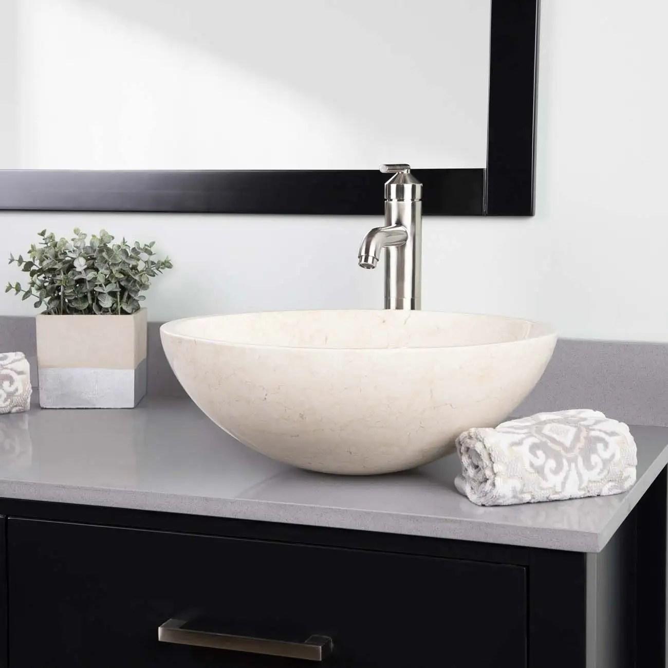 brighton beige marble vessel bathroom sink