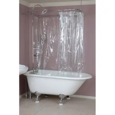 curved shower rod shower curtain