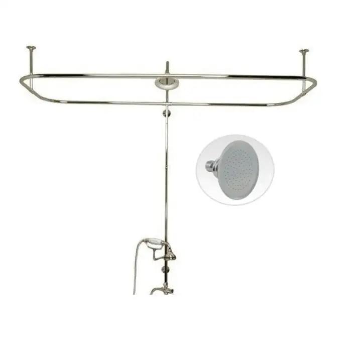 side mount shower conversion kit with handshower cradle shower head