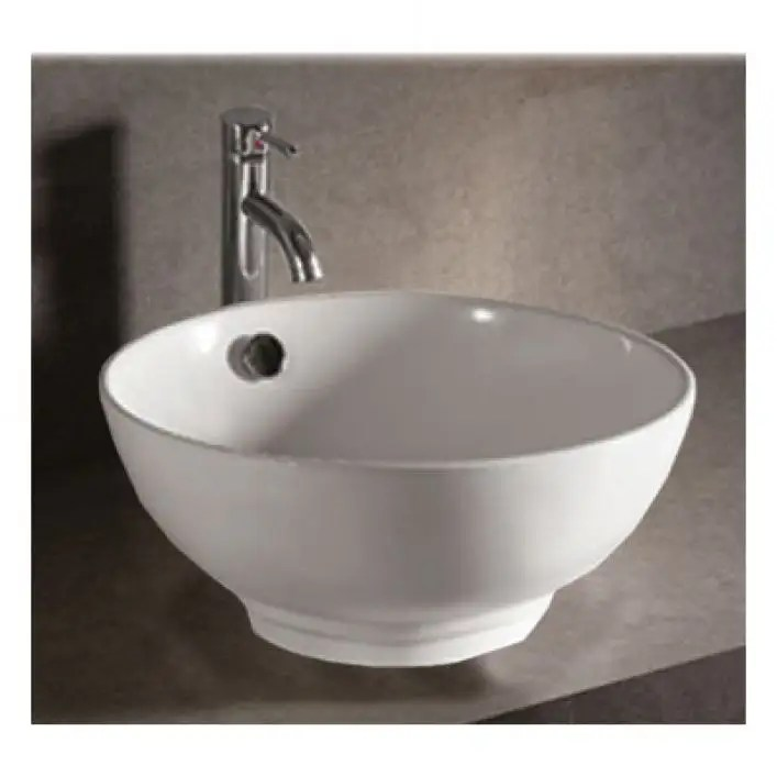 isabella collection vessel sink with overflow white