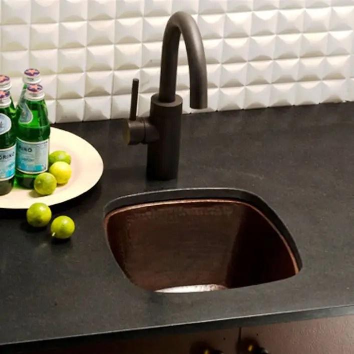 rincon 13 inch copper undermount bar prep sink