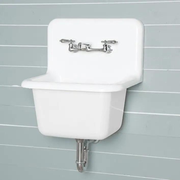 22 inch cast iron high back deep utility sink