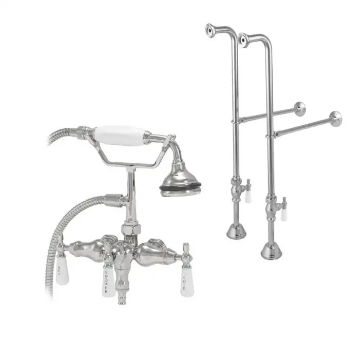 freestanding downspout clawfoot tub faucet with handshower