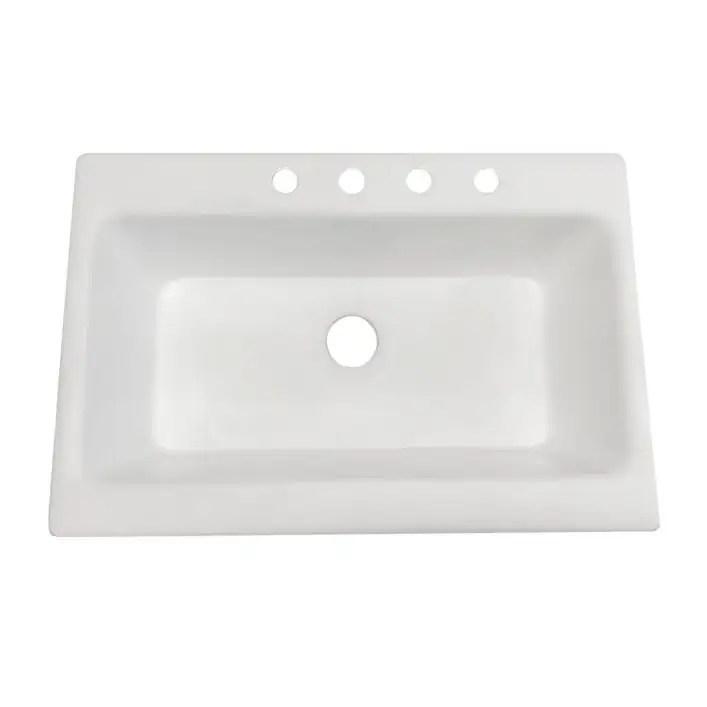 33 inch drop in cast iron farmhouse kitchen sink white