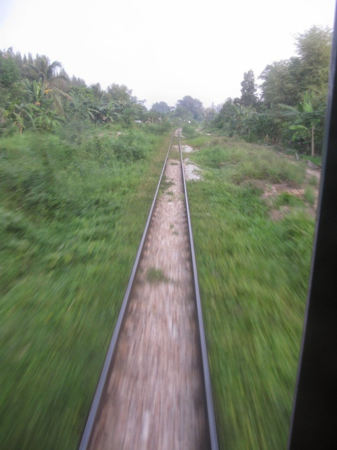 The railway track on the Thai side of the border - this is the main international line that links Bangkok with Singapore
