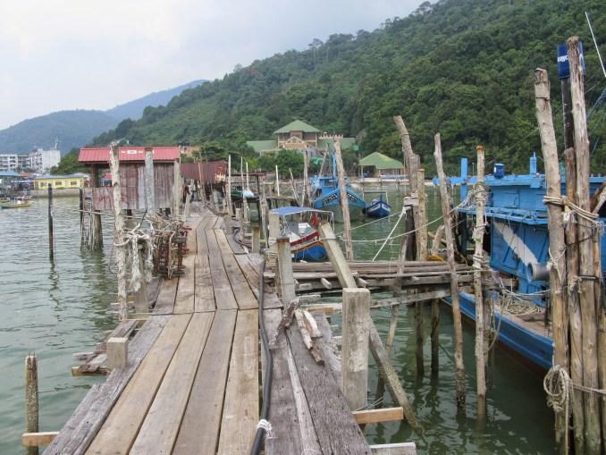 The piers at Teluk Bahang
