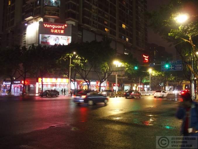 Street scene near the hotel