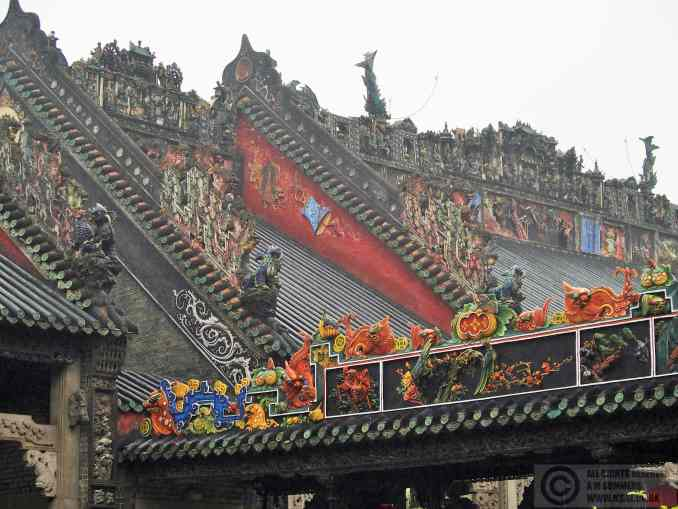 Carved roofs at Chen Clan Ancestral Hall