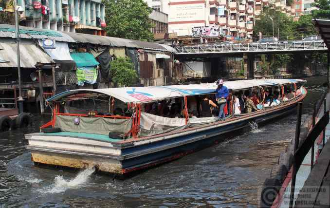 The Saen Saep canal ferry