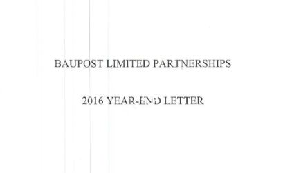 Seth Klarman's 2016 Baupost Group Letter