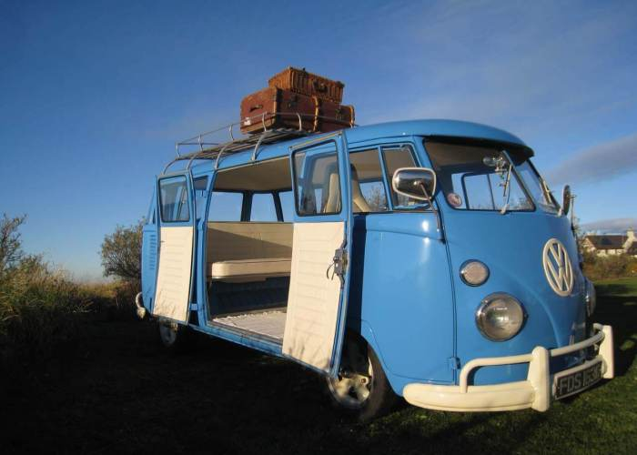 Meg the VW Microbus with Trunk
