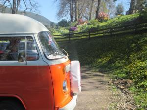 Lola, the Vintage VW Camper is shining