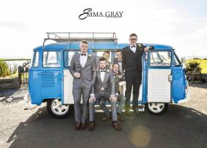 Gary Neil & The Groomsmen with Meg by Emma Gray
