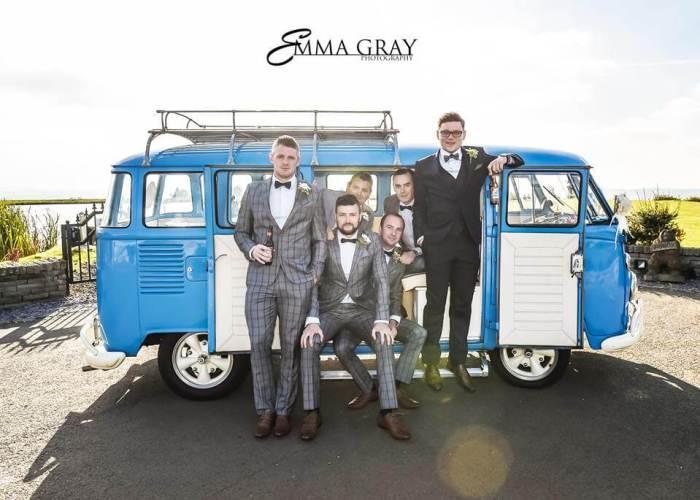 Gary Neil & The Groomsmen with Meg by Emma Gray