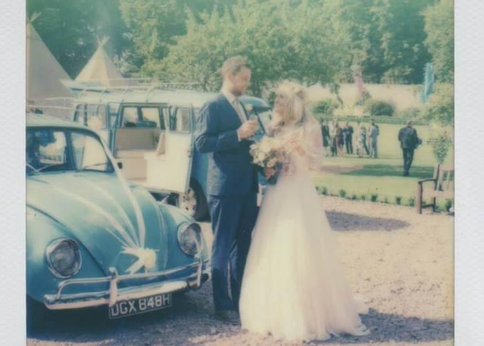 1970s Polaroid captures 2015 wedding by Photos by Zoe