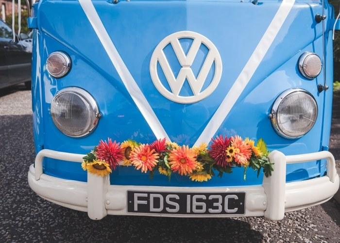 Vintage VW Wedding Car Edinburgh by Green Wedding Photography