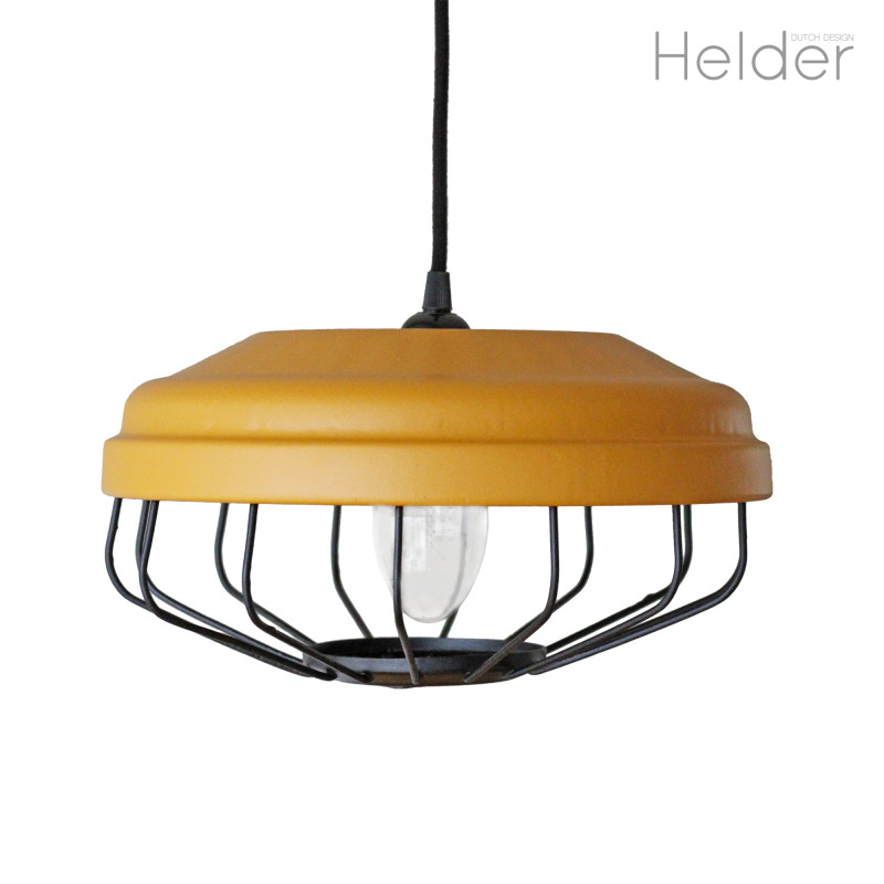 Helder Re design   Hanglamp Okergeel