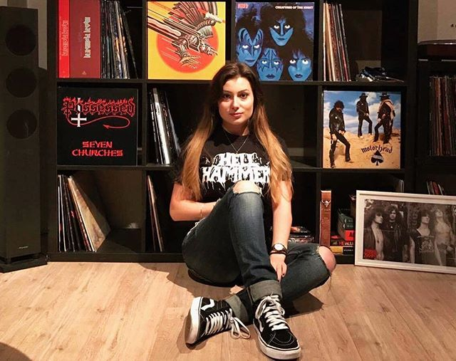 Laura Kerkhofs, a record collector from Belgium