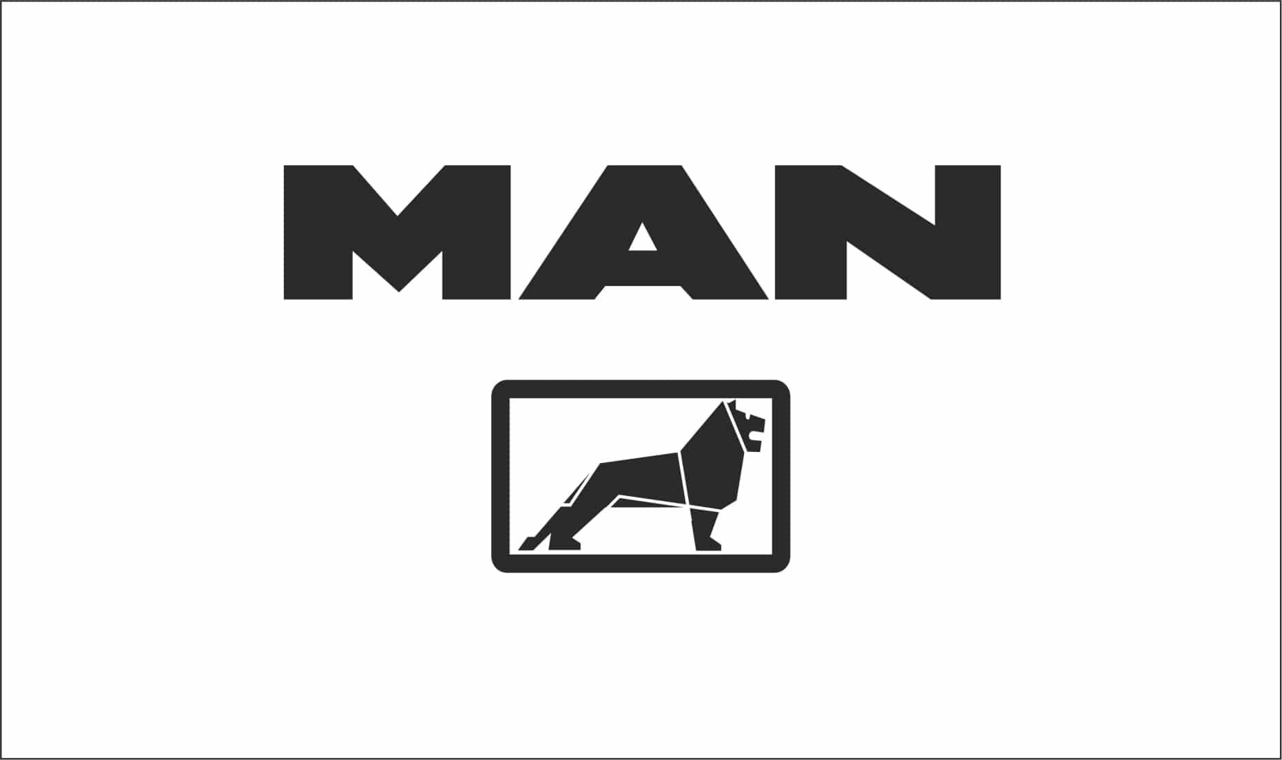 Man Truck Logo Vinyl Graphic Can Be Made To Your