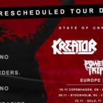 """LAMB OF GOD et KREATOR annoncent le report des dates de la tournée européenne """"State Of Unrest"""