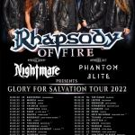 Rhapsody Of Fire en concert avec Nightmare / Phantom Elite (+ les groupes Existance et Manigance en France)