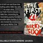Nikki Sixx - Nouveau livre The First 21 : How I Became Nikki Sixx, !