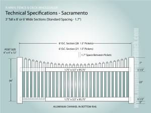 Sacramento | Scalloped Vinyl Picket Fence from Vinyl Fence Wholesaler