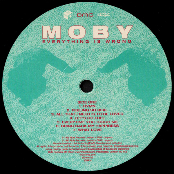 Moby - Everything Is Wrong - VINYL PUSSYCAT RECORDS