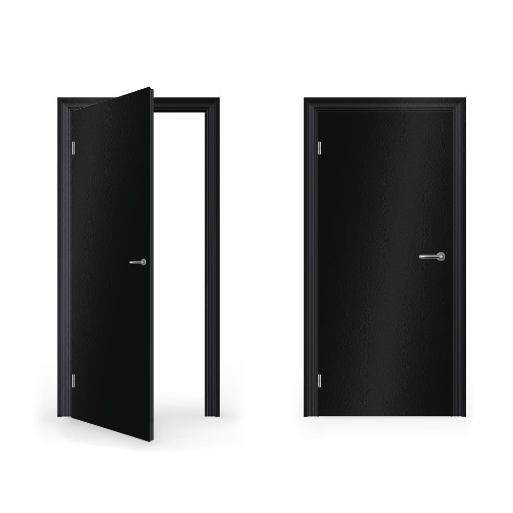 DoorWrap Matte Black Vinyl Sticker For Door Bedroom