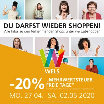 Shopping – Aktion in Wels & bei uns im Laden