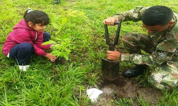 Ejército Nacional se unió a actividades de celebración del Día Mundial del Medio Ambiente.