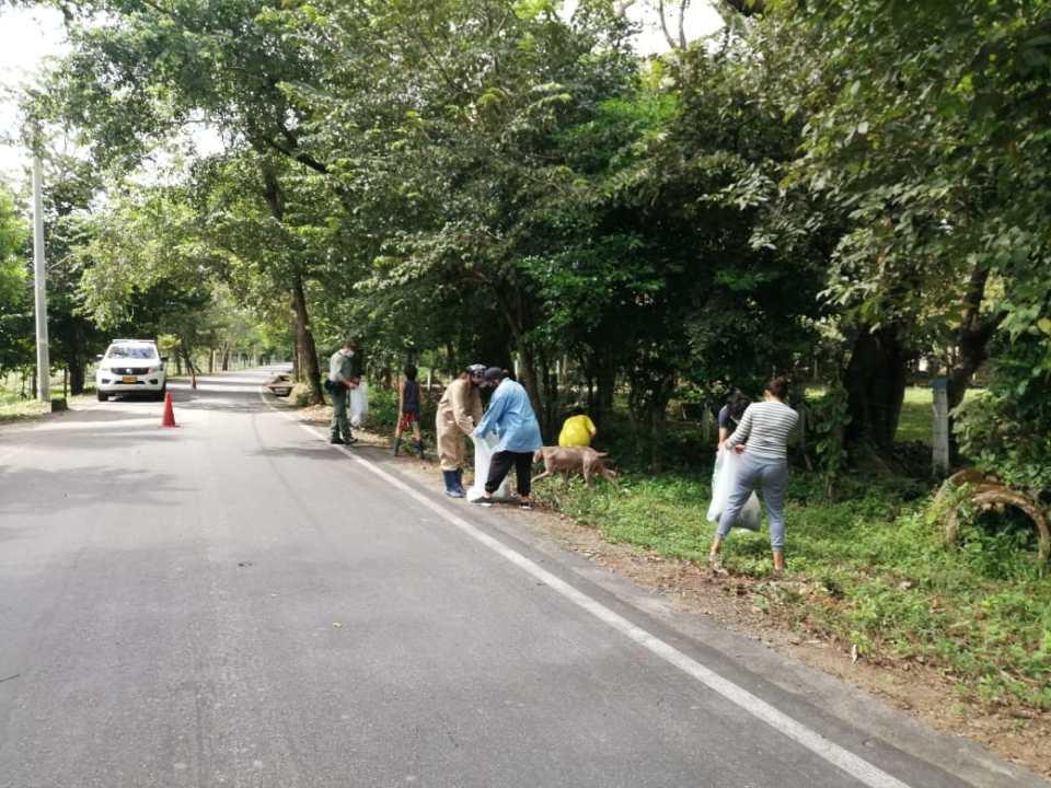 Fortalecimiento del frente de seguridad Turistico, con la comunidad del sector Sirivana Y matepantano