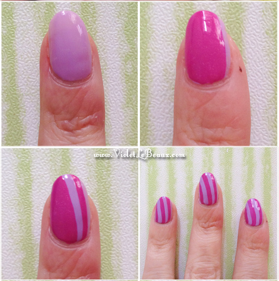 Simple Stripe Nail Art Tutorial2