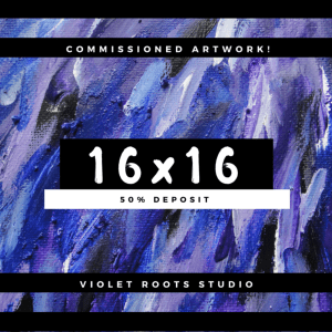 16x16 Custom Canvas Panel | Abstract Art - DEPOSIT