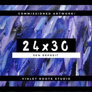 24x30 Custom Canvas Panel | Abstract Art - DEPOSIT