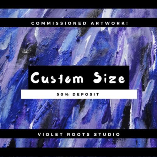 Custom Size Canvas Panel | Abstract Art - DEPOSIT