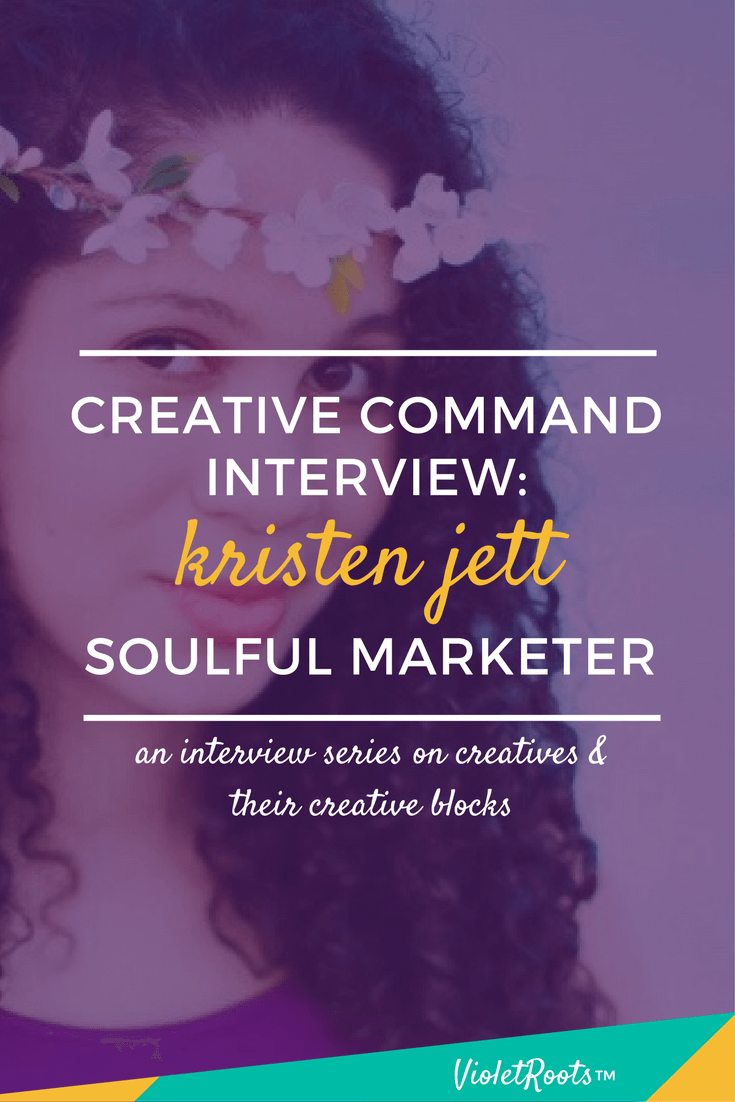 Creative Command: Kristen Jett - Creative Command, featuring Kristen Jett, is an interview series that discusses the creative process, mental blocks, and inspiration strategies!