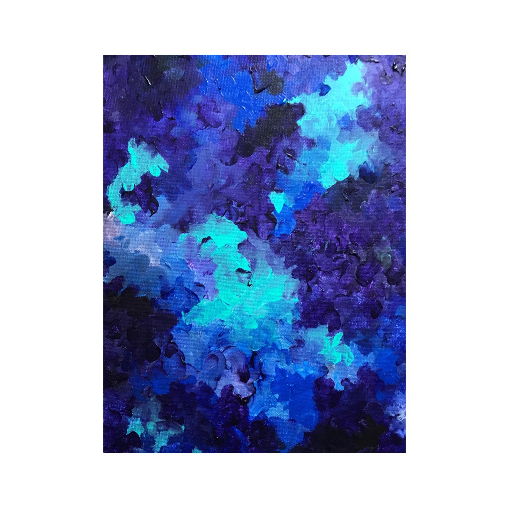 Portfolio - Violet Roots - Abstract Painting - Poltergeist