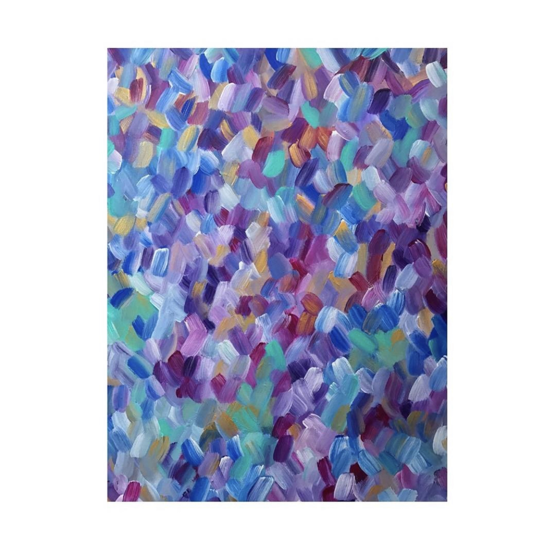 Portfolio - Violet Roots - Abstract Painting - Fool's Paradise