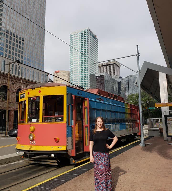 Violet Sky at the TECO Streetcar, Tampa, Florida