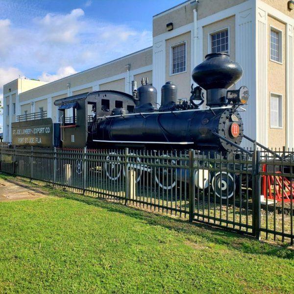 Train from St. Joe Lumber and Export Co., Port St. Joe, Florida
