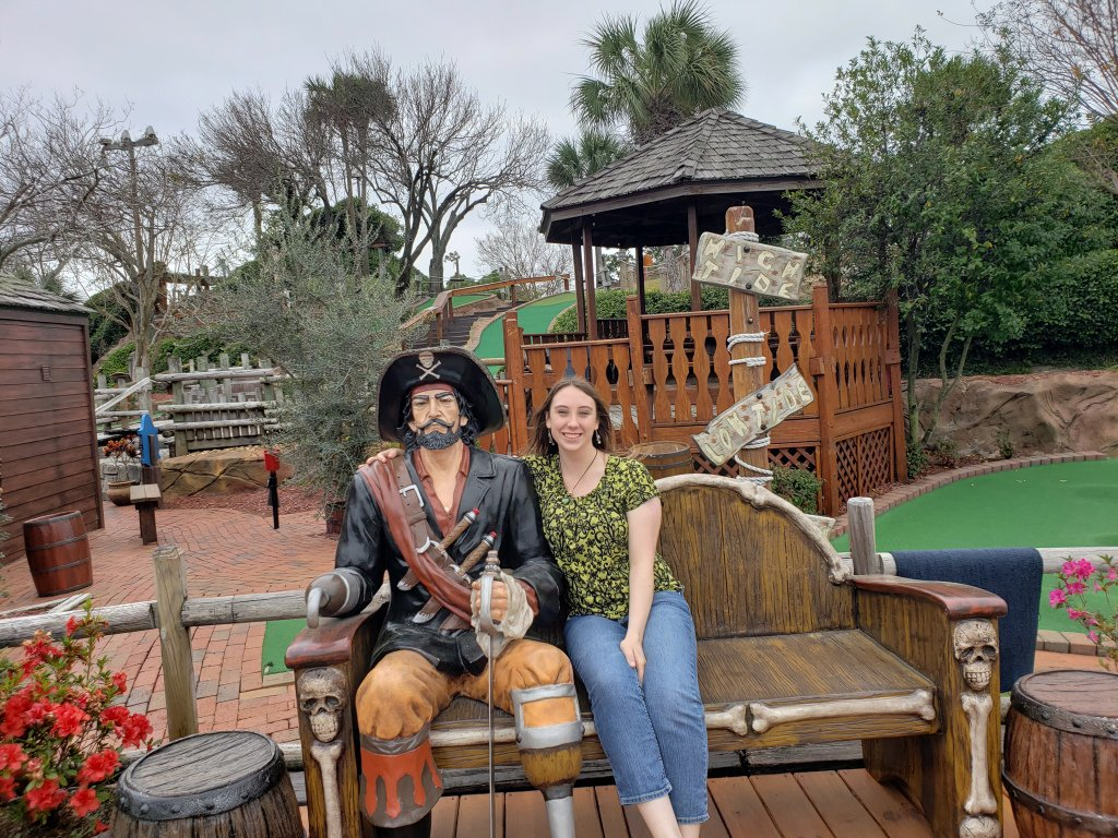 Violet Sky at Pirate's Island Adventure Golf, Panama City Beach, Florida