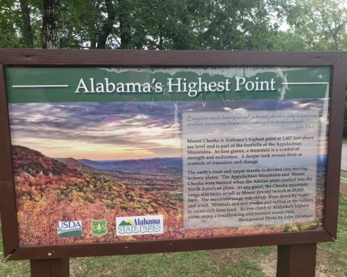 Alabama's Highest Point at Cheaha State Park