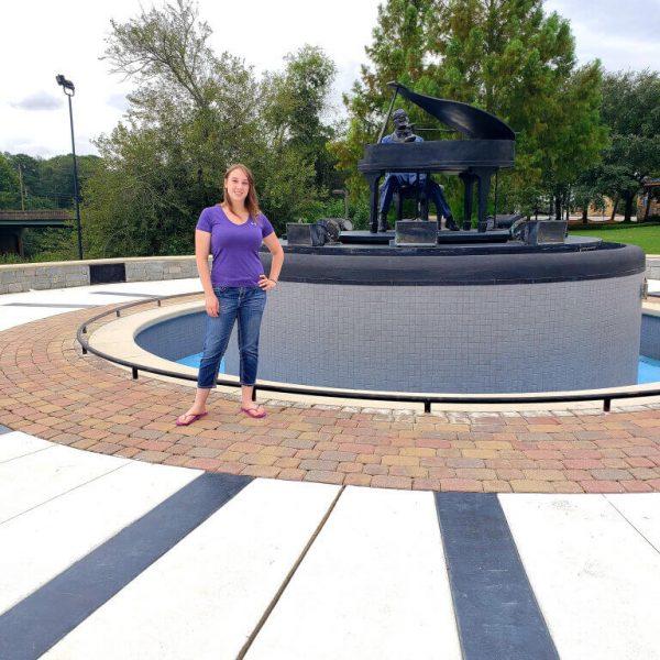 Violet Sky at Ray Charles Birthplace, Albany, Georgia
