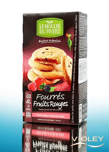 organic red fruits filled biscuits